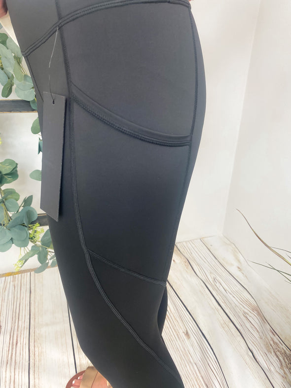 Slanted Panel Leggings
