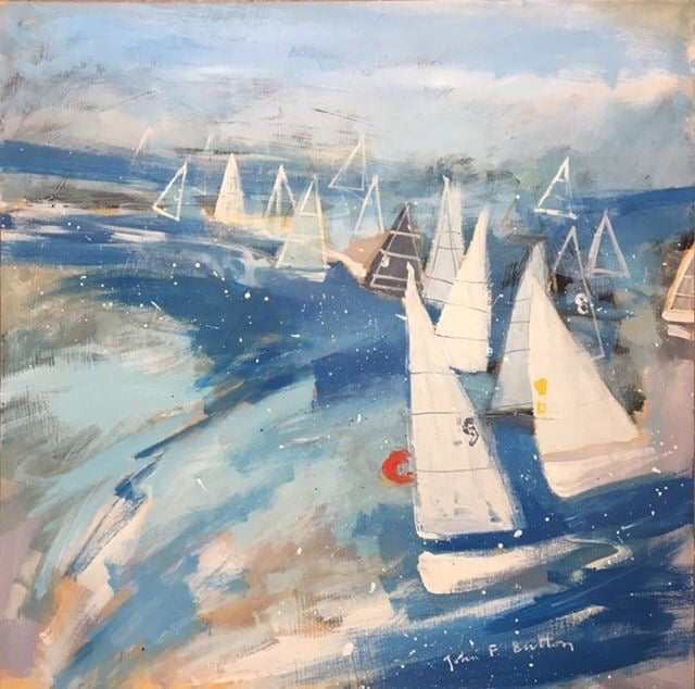 Regatta I painting by artist John Button