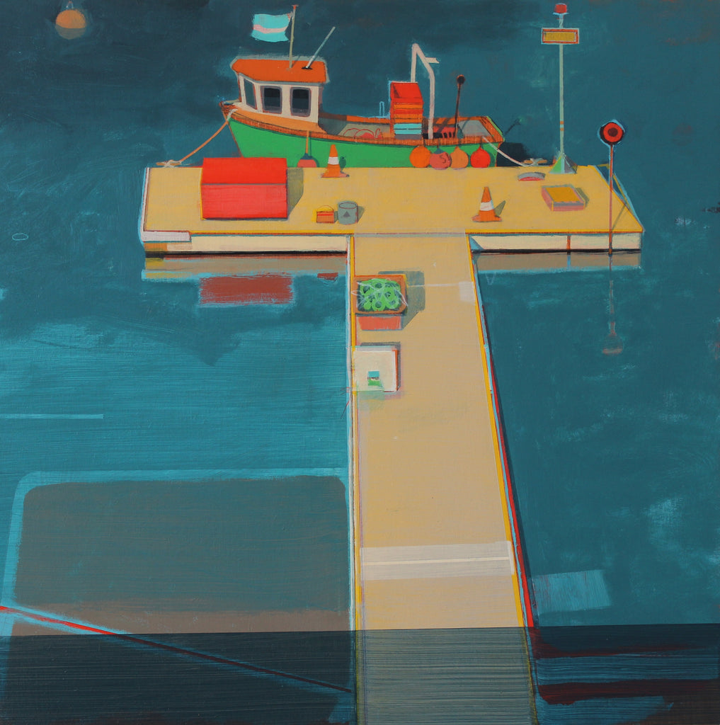 ALASDAIR LINDSAY, Green Fishing Boat, Mylor