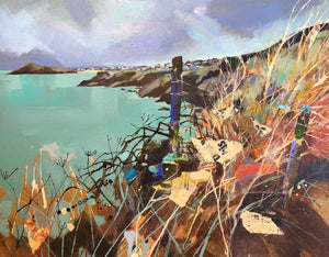 View of St Ives from Clodgy Point by LUCY DAVIES