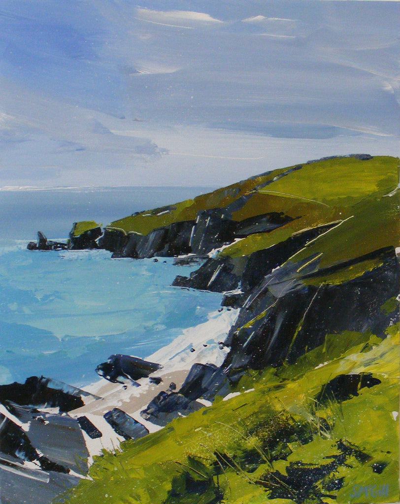 Painting of the Lizard Peninsula in Cornwall by artist Sian Mcgill