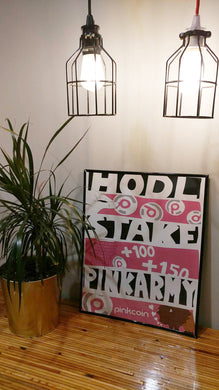 Hand Drawn Pinkcoin Poster - Limited Printing