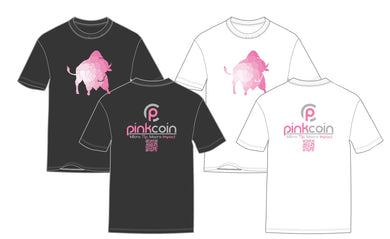 Pinkcoin Unisex T-Shirt (Black/White)