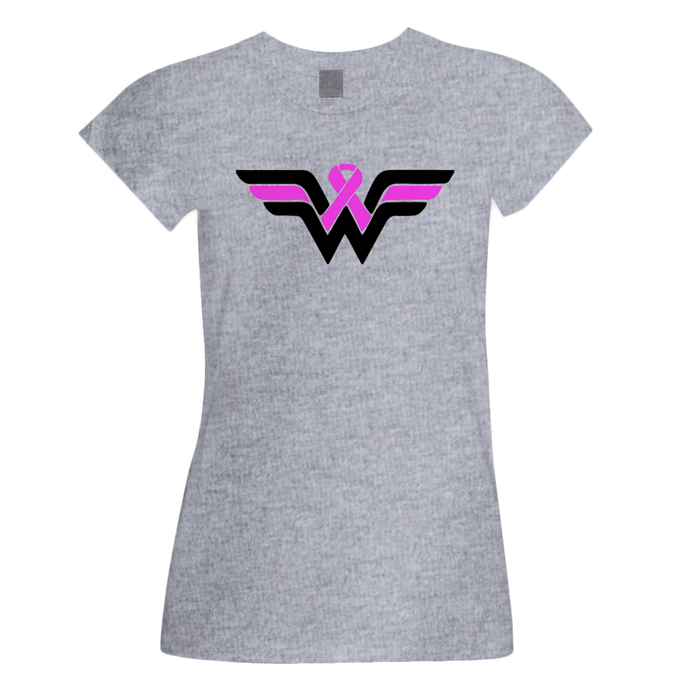 Wonder Woman Pink Ribbon (Breast Cancer Awareness)