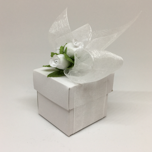 White Cube Box With Lid