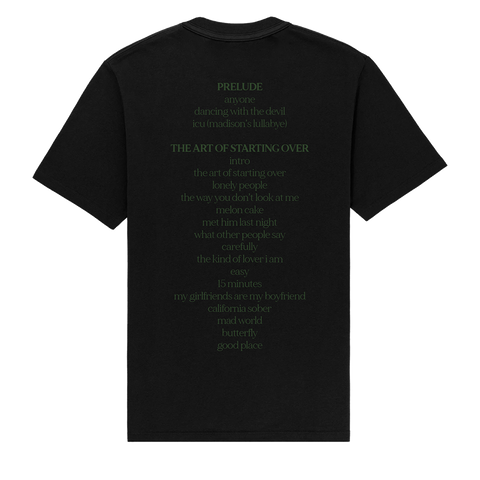 Dancing with the Devil... The Art of Starting Over Tracklisting Black T-Shirt
