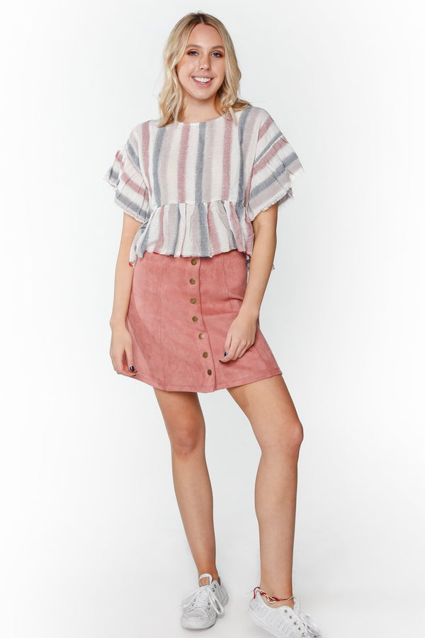 Striped Baggy Top