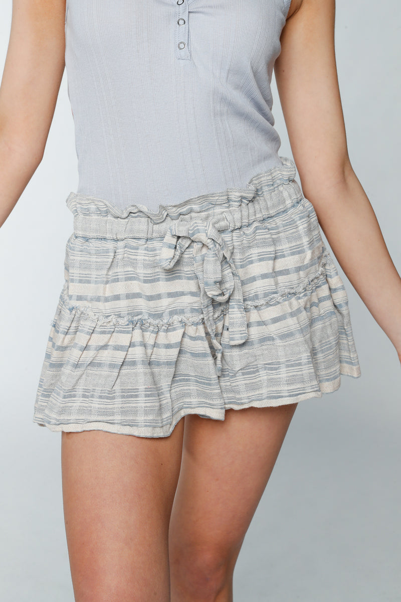 Pin-Striped Beach Shorts