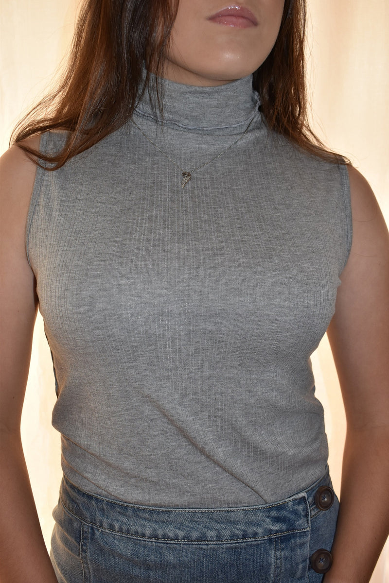 Ribbed Turtleneck Tank