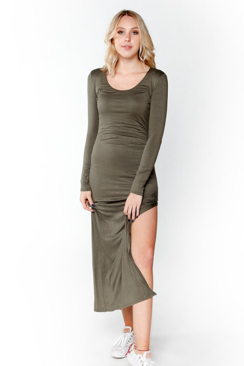 Round Neck Long Dress
