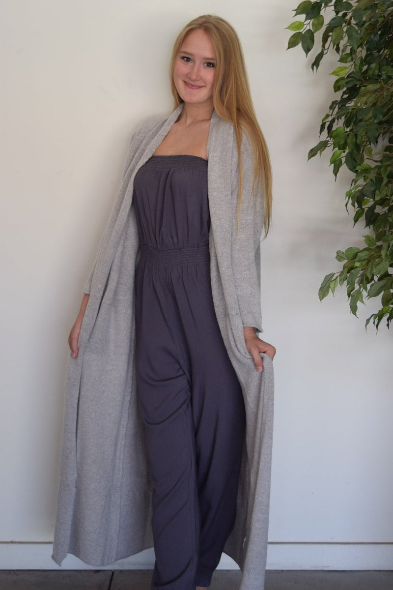 Gray Cardigan Duster