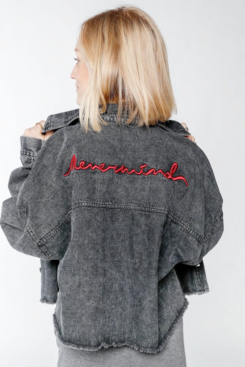 Graffiti Black Denim Jacket