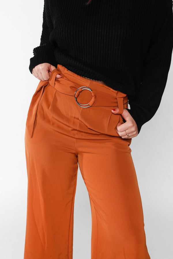 Burnt Orange Capri Pant