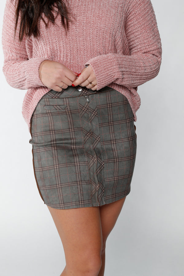 Suede Multi-Color Skirt