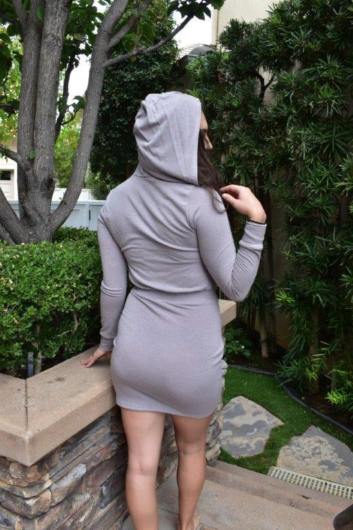 Hooded Knit Dress