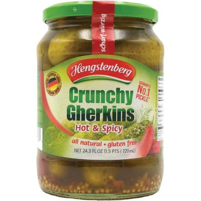 Hengstenberg Crunchy Gherkins Hot & Spicy - EuropeanDeli.com