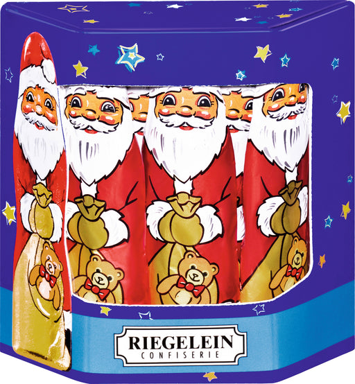 Riegelein Solid Santa's in Gift Box - 10 Pieces