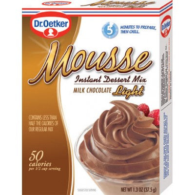 Dr Oetker Milk Chocolate Mousse Light