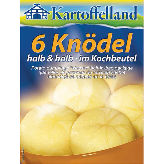 Kartoffelland 6 Boil-in-Bag Classic Potato Dumplings - EuropeanDeli.com