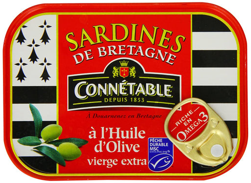 Connetable Sardines from Brittany in EVOO