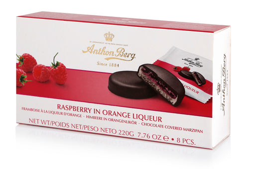 Anthon Berg Chocolate with Marzipan & Raspberry in Orange Liqueur Filling - European Deli