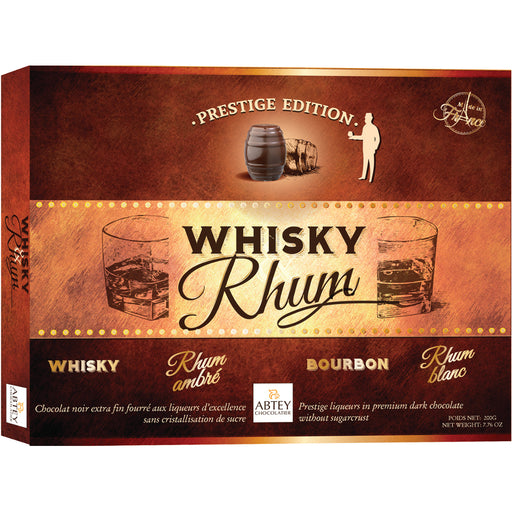 Abtey Prestige Whiskey & Rum Dark Chocolate Barrel Assortment