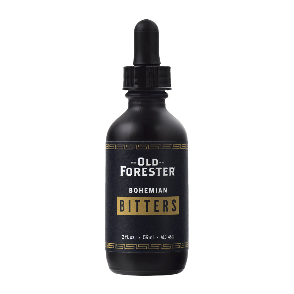 Old Forester Bohemian Bitters are handcrafted using all-natural ingredients, such as sour cherries, clove, wild cherry bark, gentian root, anise, smoked black pepper and cacao nibs.