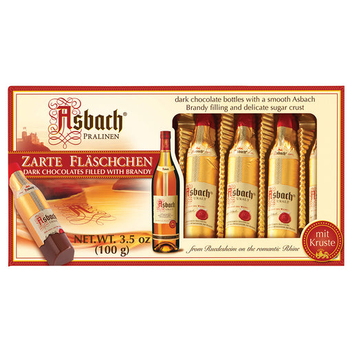 Asbach Chocolate Bottles in Gift Box - 8 Pieces