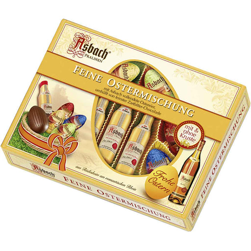 Asbach Chocolate Bottles & Eggs Assortment in Gift Box - EuropeanDeli.com