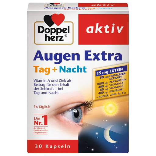 Doppelherz Eyes Extra Day + Night, 30 Capsules - EuropeanDeli.com