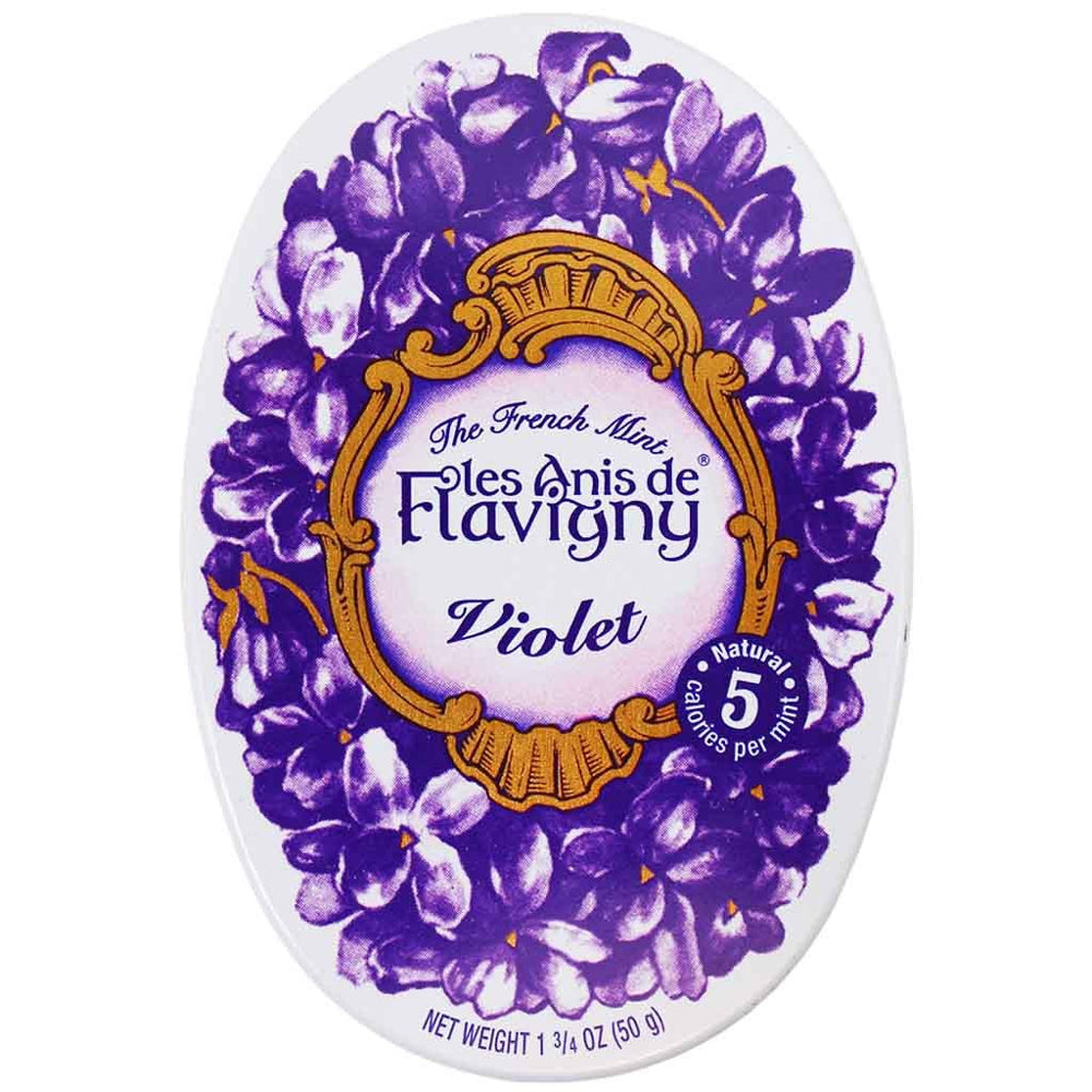 Anis de Flavigny Violet Pastilles are coated with fine layers of sugar and an all-natural Violet flavoring, featuring an aniseed in its center.