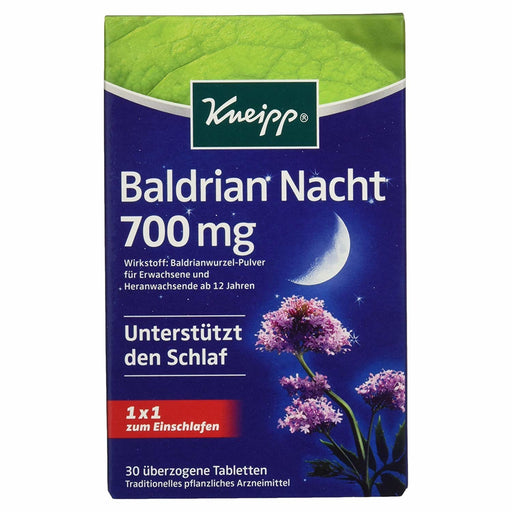 Kneipp Valerian Night 700mg, 30 tablets - EuropeanDeli.com