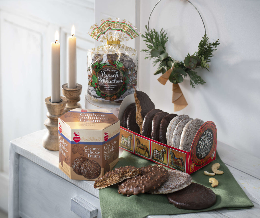 Lebkuchen Schmidt OBLATEN FAVORITES contains 3 types of specialty biscuits