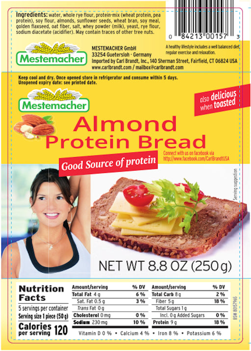 Mestemacher Almond Protein Bread - European Deli