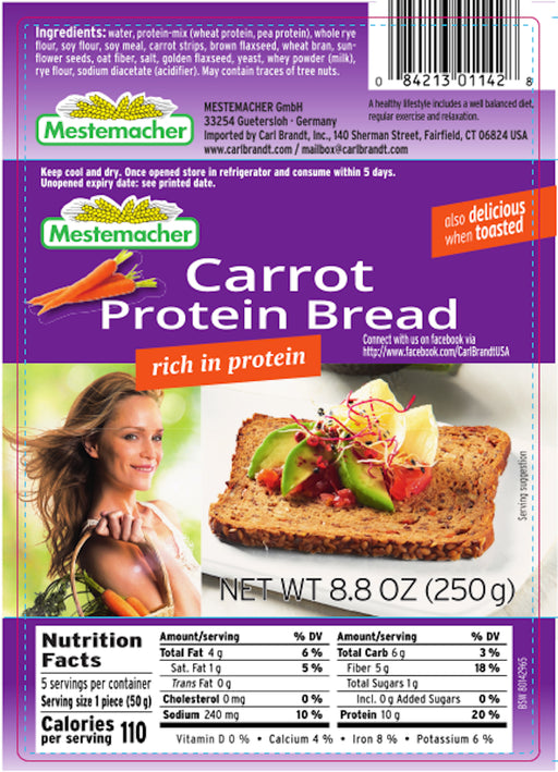 Mestemacher Carrot Protein Bread - European Deli