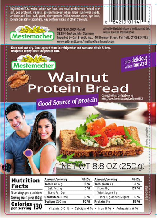 Mestemacher Walnut Protein Bread - European Deli