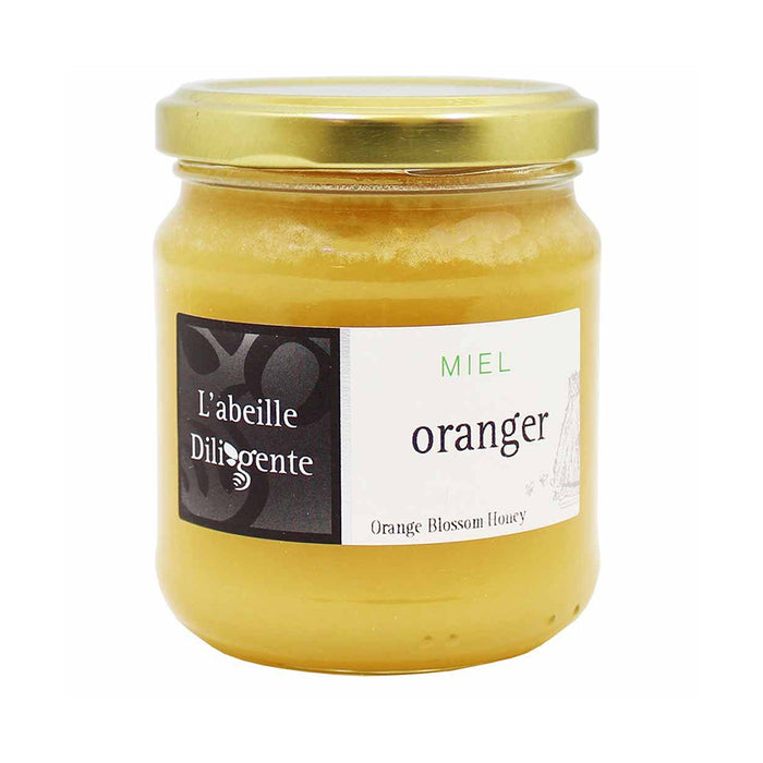 L'Abeille Diligente Orange Blossom Honey is deliciously golden and made primarily of orange blossom nectar.