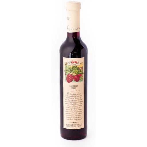 D'Arbo Raspberry Syrup is a highly concentrated fruit syrup made from raspberries.