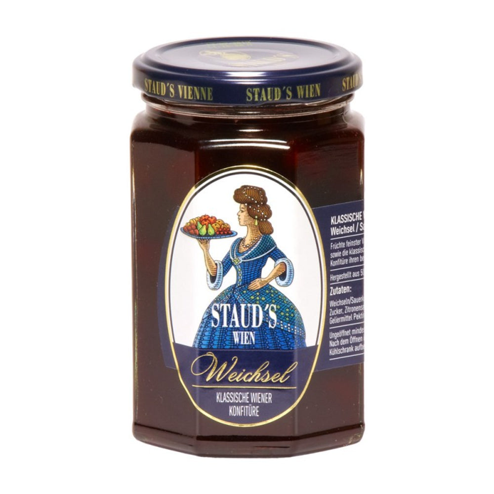 Staud's Sour Cherry Preserves is a Classic Preserve from Vienna, made from hand selected sour cherries with fructose and gelling agent pectin.