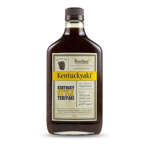 "Bourbon Barrel Kentuckyaki Sauce can be referred to as a ""Kentucky-styled"" teriyaki sauce, which means a bit of Kentucky Bourbon is added for extra fun and flair!"