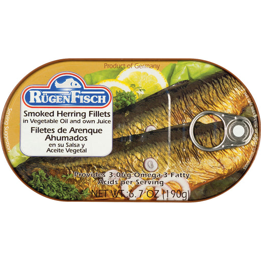 RugenFisch Smoked Herring In Oil is of highest quality.