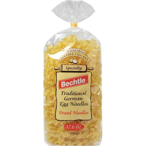 Bechtle Broad German Egg Noodles are made in Southern Germany, which is well known for its egg noodles.