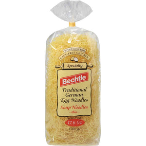 Bechtle Thin Soup German Egg Noodles are the perfect noodles for making soup tastier and healthier.
