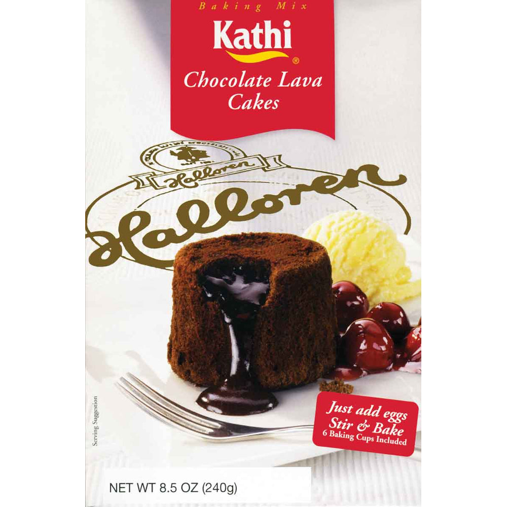 Kathi Chocolate Lava Cake Mix contains all the main ingredients you need to make a delicious chocolate lava cake.