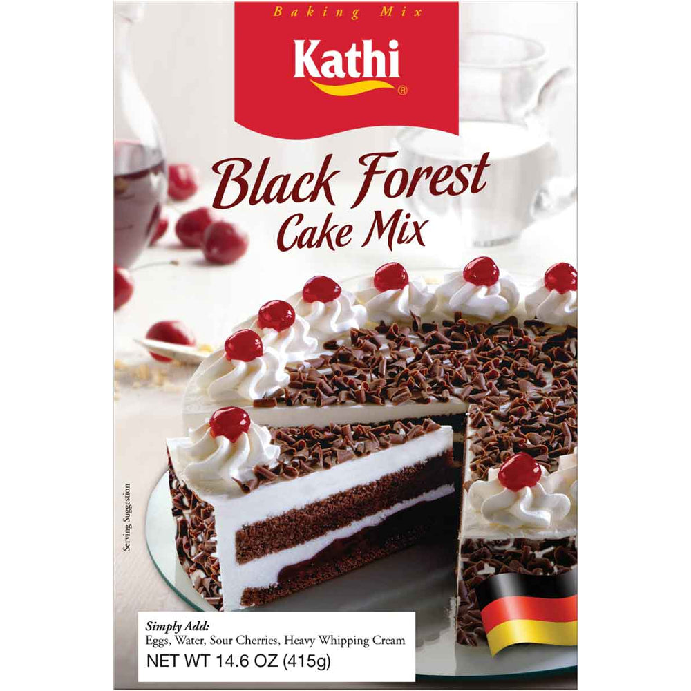 Kathi Black Forest Cake Mix contains all the main ingredients you need to make a delicious black forest cake.