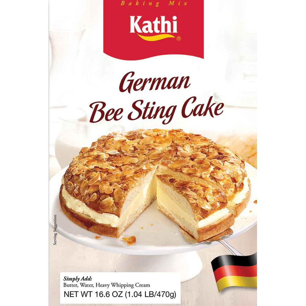 Kathi German Bee Sting Cake Mix contains all the main ingredients you need to make a delicious German Bee Sting Cake!