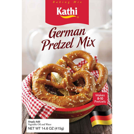 Kathi German Pretzel Mix contains all the main ingredients you need to make 8-10 authentic soft Bavarian Oktoberfest beer garden pretzels.