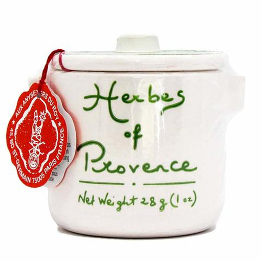 Anysetiers du Roy Herbes de Provence is a special blends of aromatic herbs, including lavender flowers, which is packaged in a little stoneware pot.