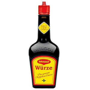Maggi Würze Liquid Seasoning is a food flavor enhancer,
