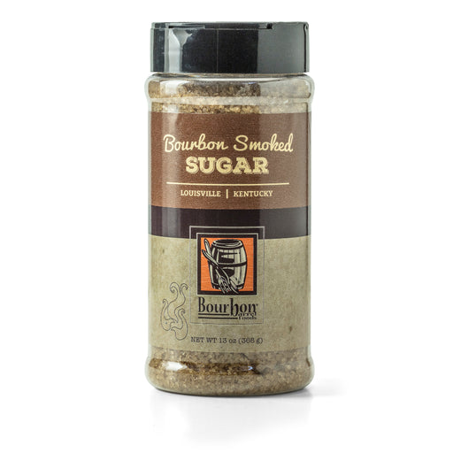 Bourbon Barrel Bourbon Smoked Sugar is a raw demerara sugar smoked with re-purposed bourbon barrel staves